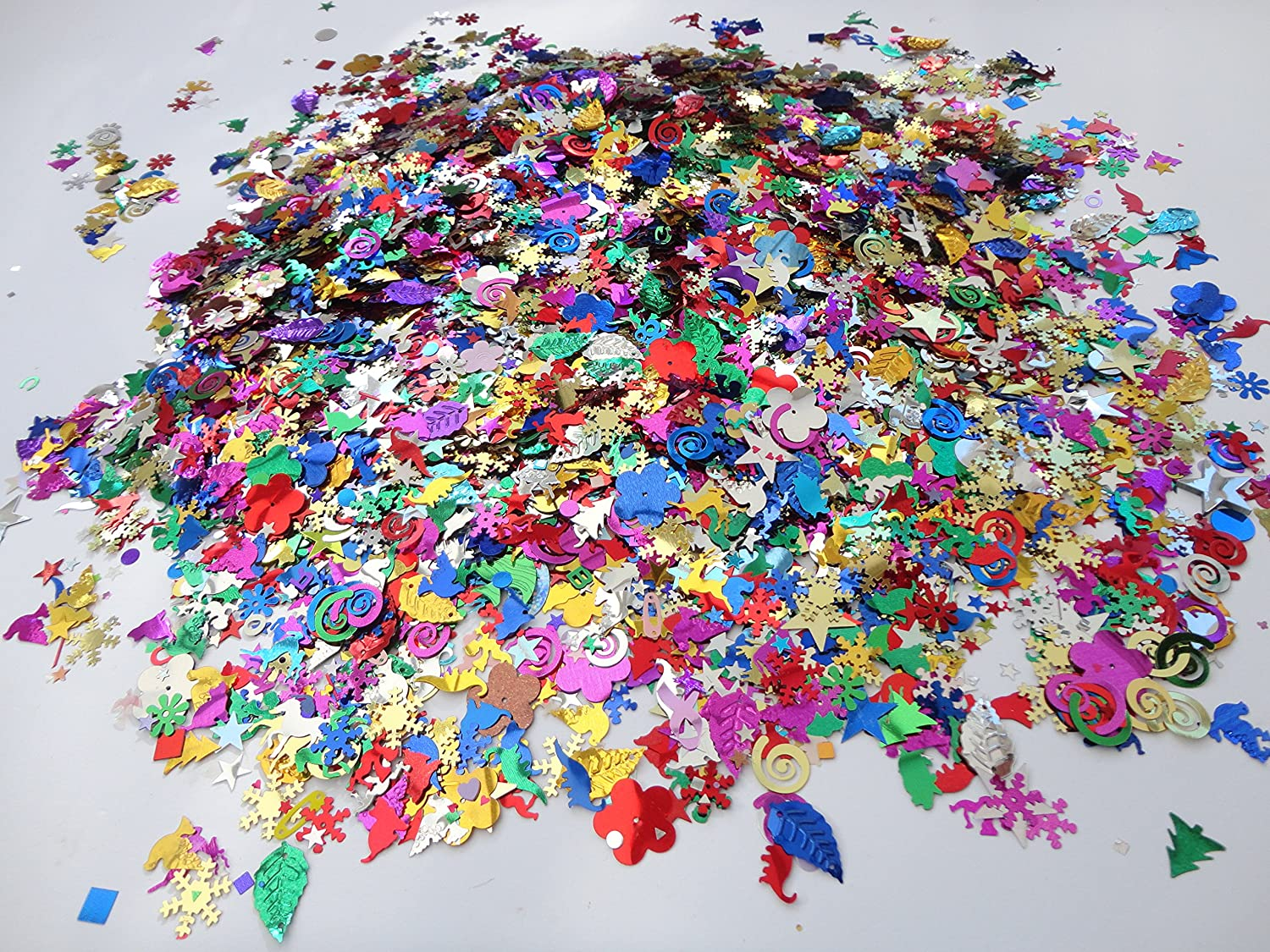 50G Bag Loose Mixed Sized And Design Sequins Craft Sewing 1000+ In Pack a2bsales