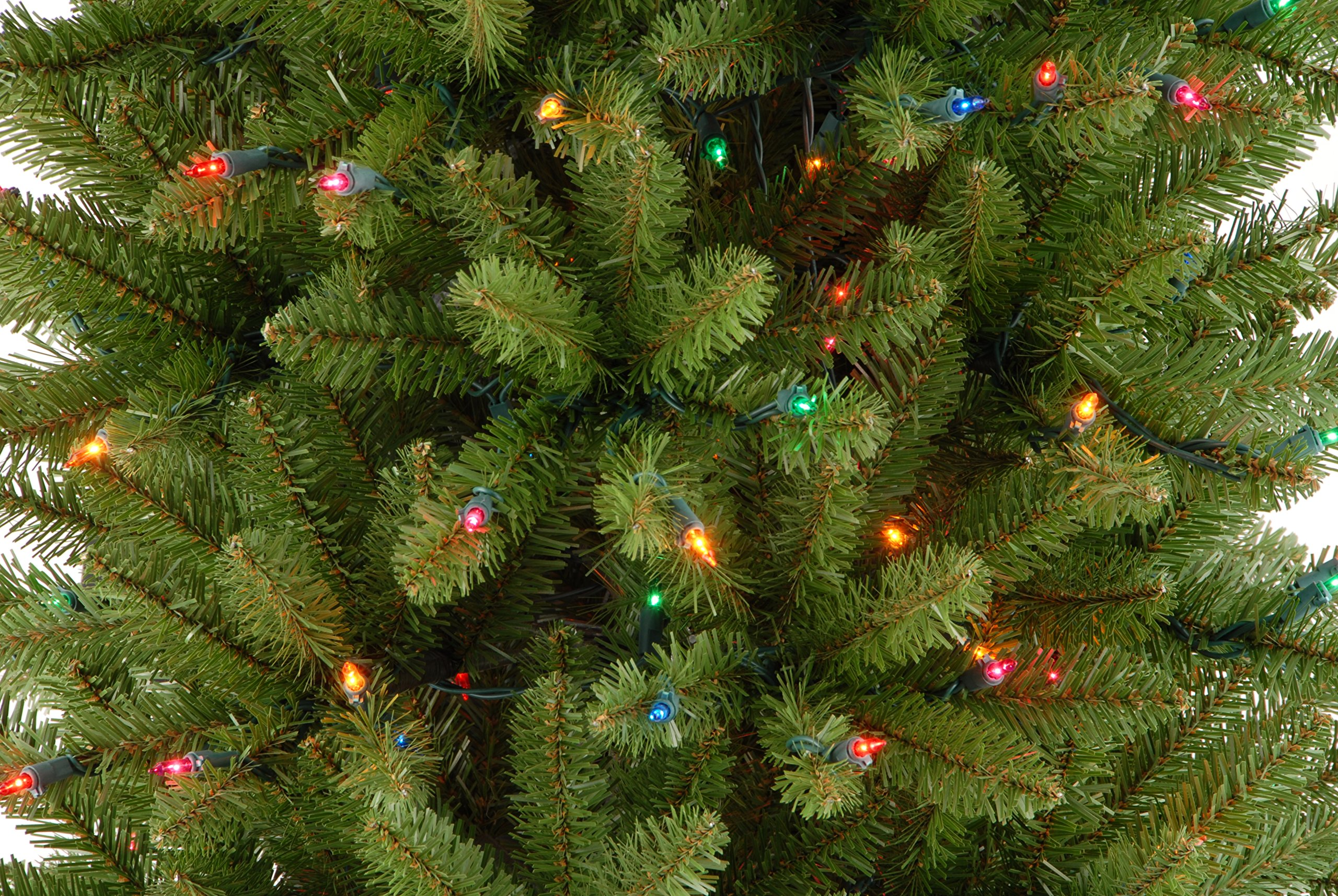 National Tree 6.5 Foot Kingswood Fir Pencil Tree with 250 Multicolor Lights, Hinged (KW7-313-65) by National Tree Company (Image #1)