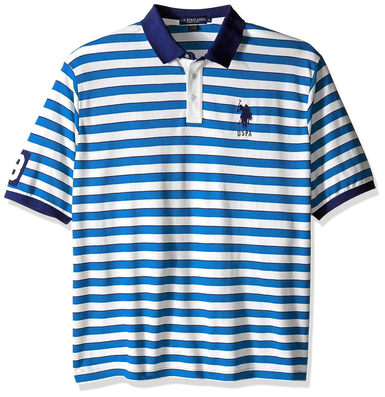 U.S. Polo Assn. Men's Big-Tall Slim Fit Shadow Stripe Polo Shirt 23-7006-ZS