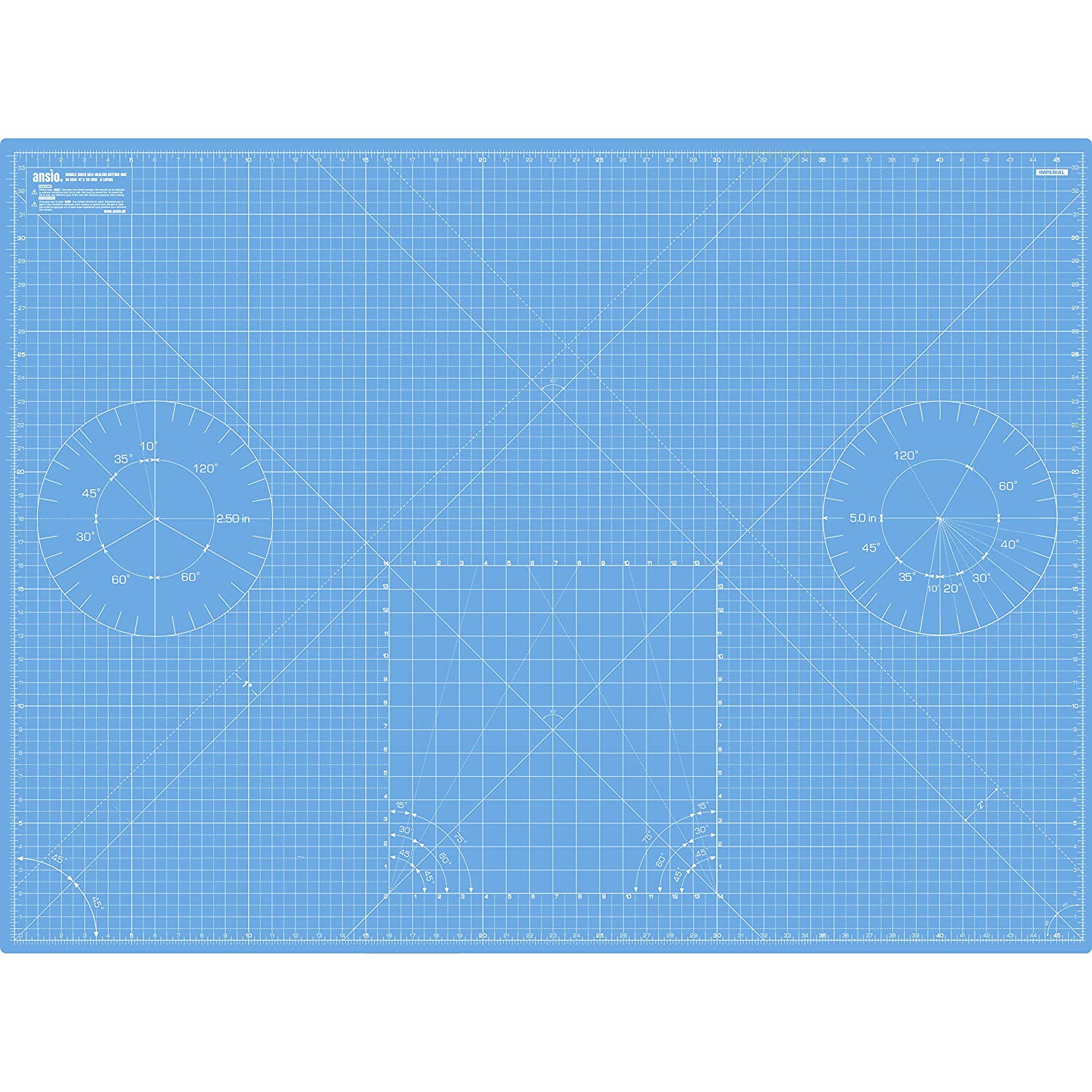 ANSIO A0 Double Sided Self Healing 5 Layers Cutting Mat Imperial