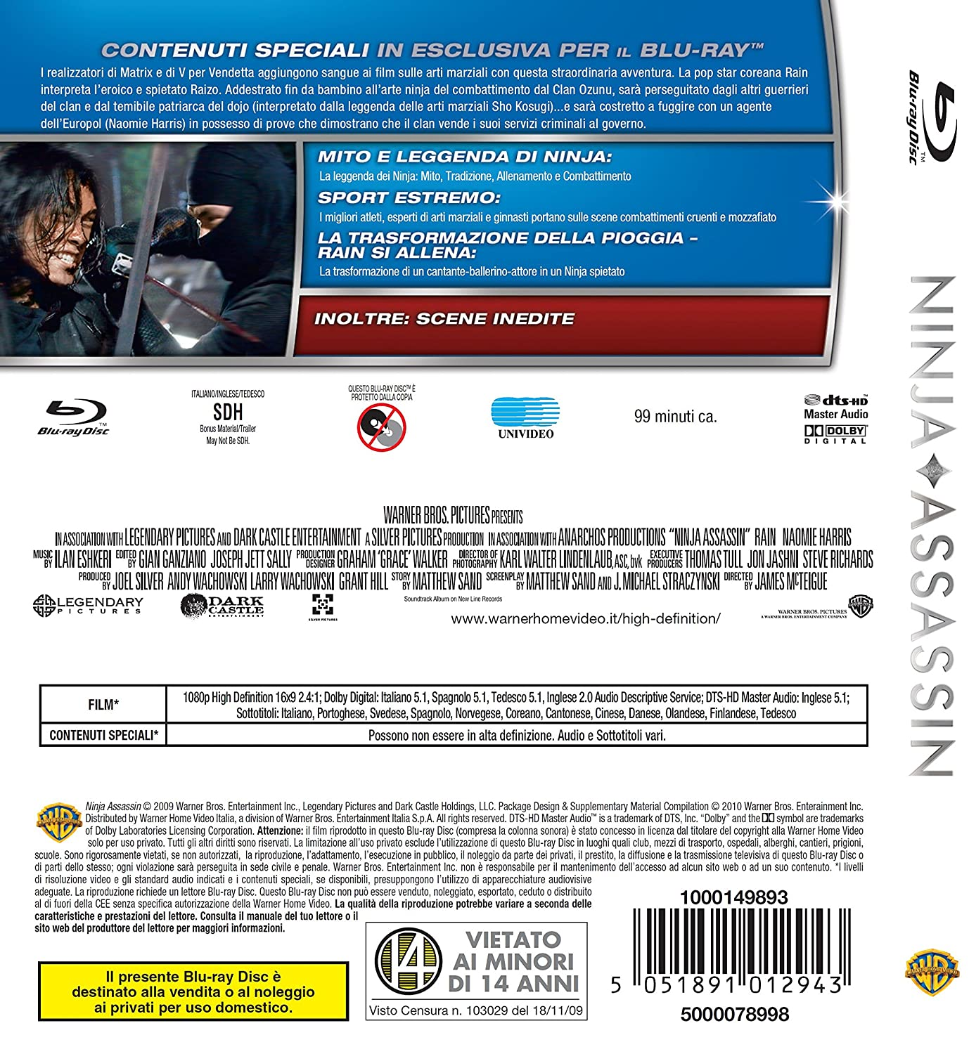 Ninja assassin [Italia] [Blu-ray]: Amazon.es: Rain, Ilan ...