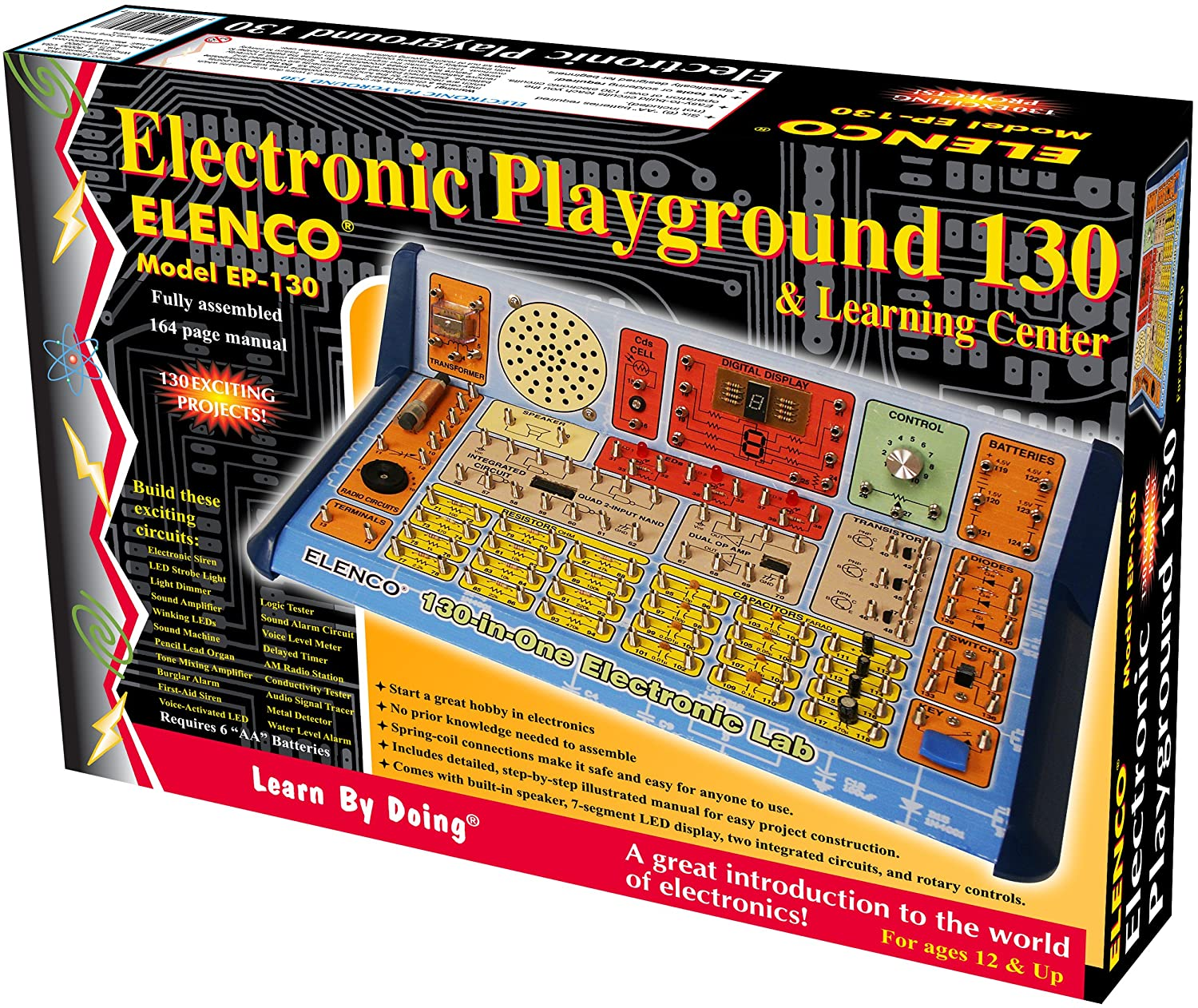 Elenco 130 In 1 Electronic Playground And Learning Homemade 100 Hp Motor Controller For An Electric Car Electronicslab Center Toys Games