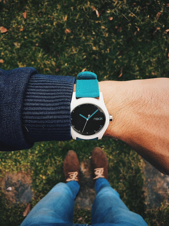 Naak Turquoise Island Reloj para Unisex Analógico de Cuarzo con Brazalete de Nylon 017-TI-RMK: Amazon.es: Relojes