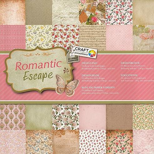 Bastelpapier Vintage scrapbooking papier vintage motivblock 01 romatic escape