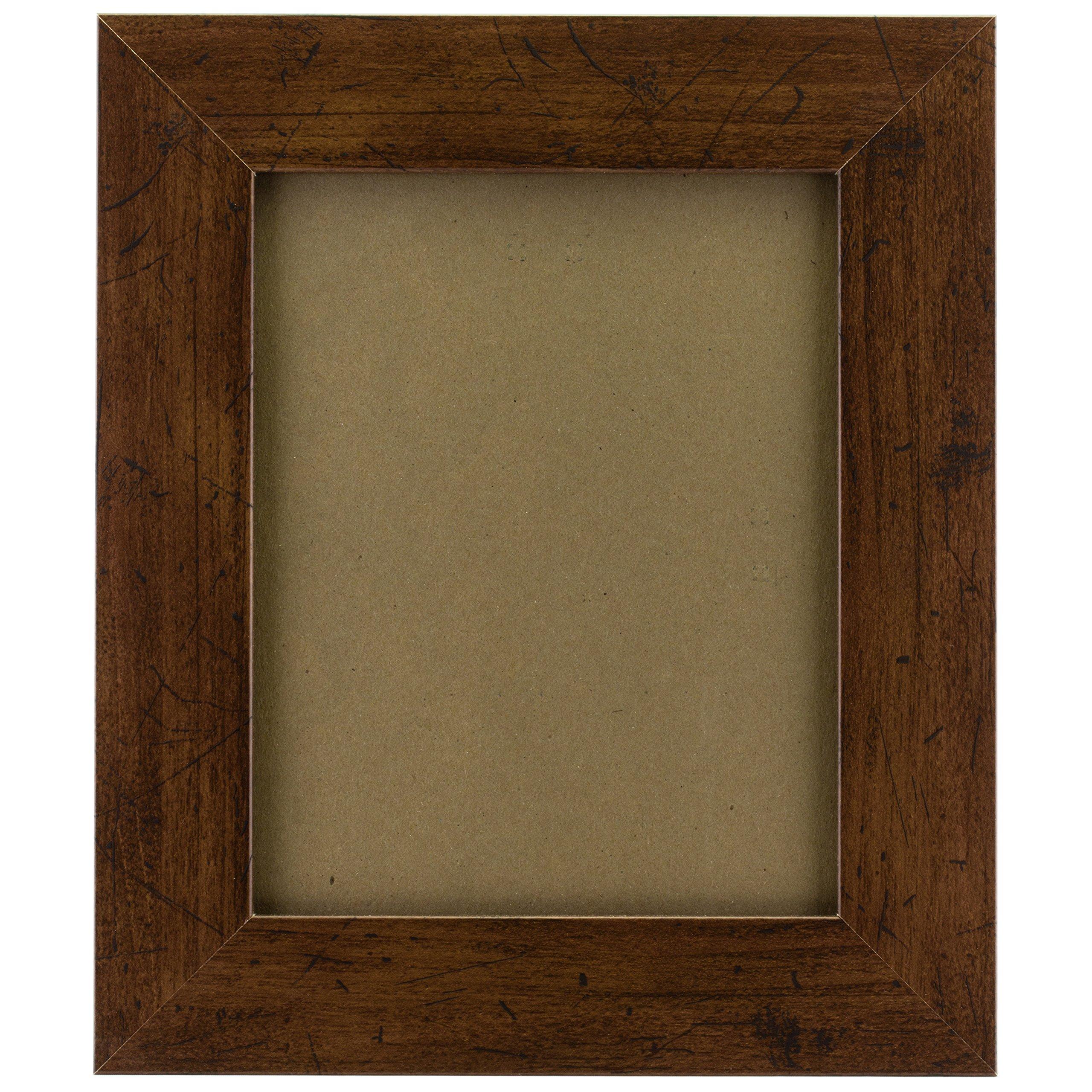 Craig Frames FM74DKW 16 by 20-Inch Rustic Wall Decor Frame, Smooth Grain Finish, 2-Inch Wide, Dark Brown by Craig Frames