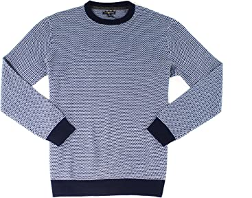 Club Room Mens Merino Wool Blend Pattern Pullover Sweater