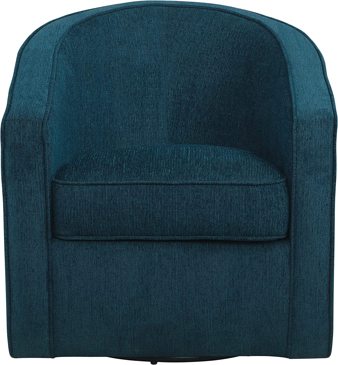 Osp Home Furnishings Danica Swivel Chair With Thick Cushions Azure Blue Fabric Furniture Decor