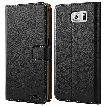 HOOMIL Funda Samsung Galaxy S6, Cuero Premium Fundas para Samsung S6 Carcasa Case (H3002, Negro)