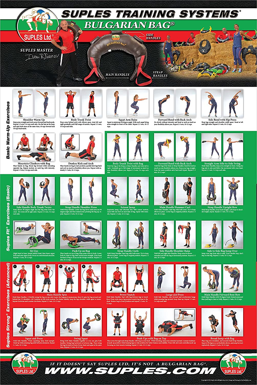 13,6 kg Bulgarian Bag Fitness, Crossfit, Wrestling, Judo, Grappling, Functional Training, MMA, Sandsack Echtes Leder