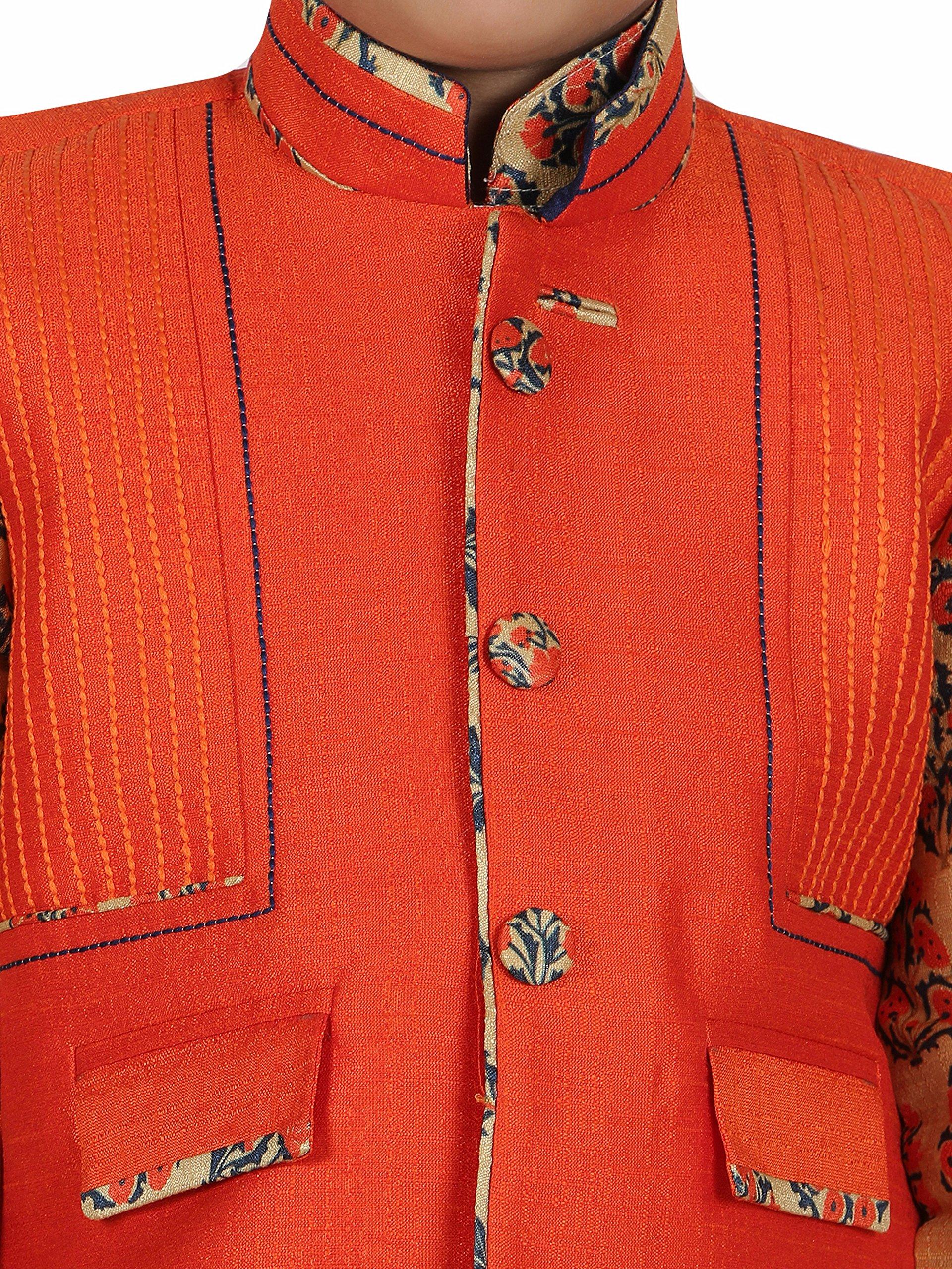 AJ Dezines Kids Indian Wear Bollywood Style Kurta Pyjama Waistcoat for Baby Boys by AJ Dezines (Image #5)