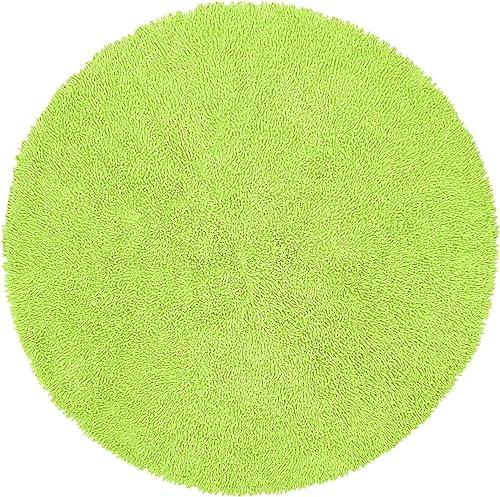Green 3 Round Shagadelic Chenille Twist Rug
