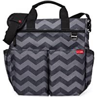 Skip Hop Duo Signature Changing Bag (Black /Grey, Tonal Chevron)