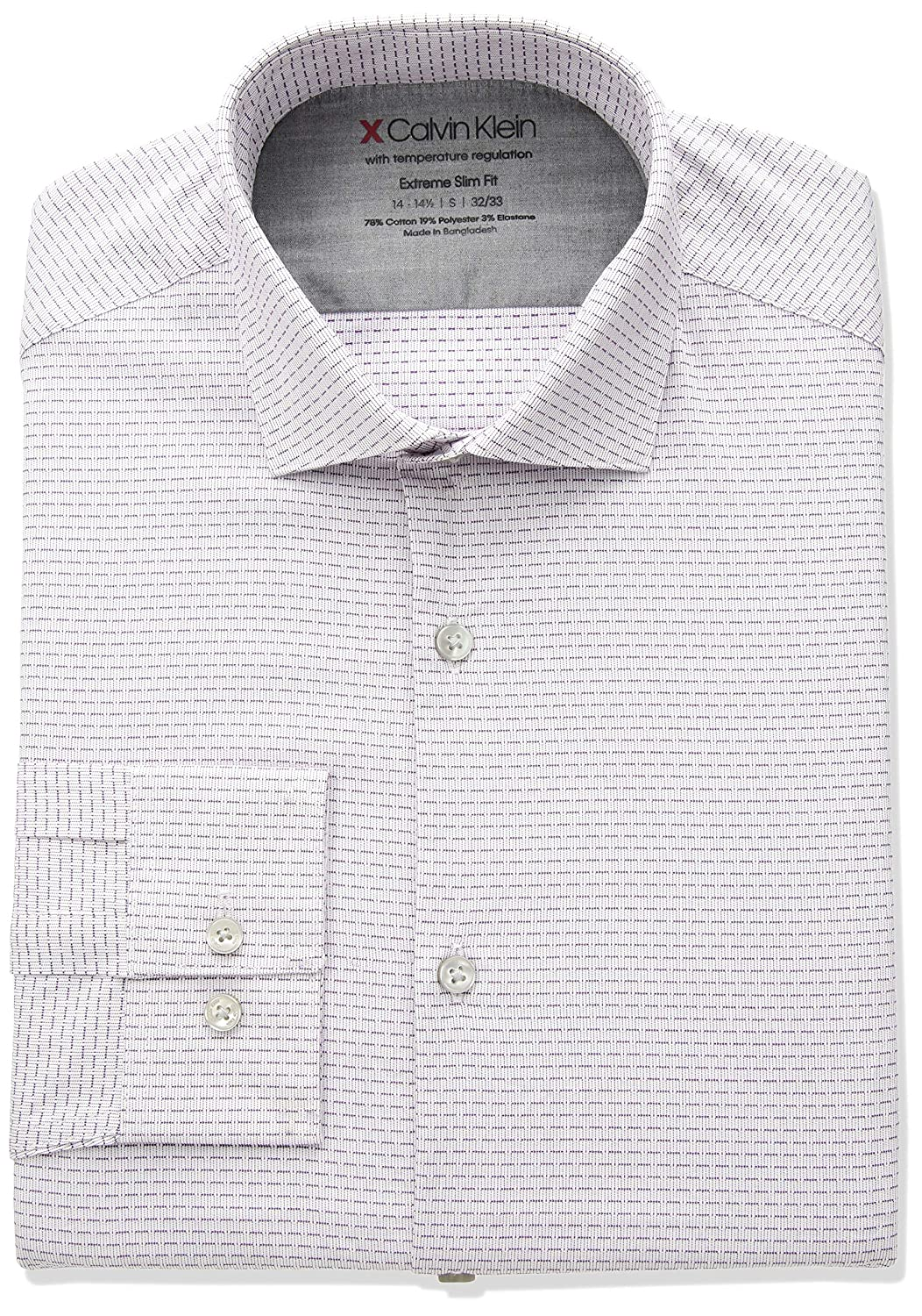 Calvin Klein Dress Shirts Xtreme Slim Fit Solid Thermal Stretch ...