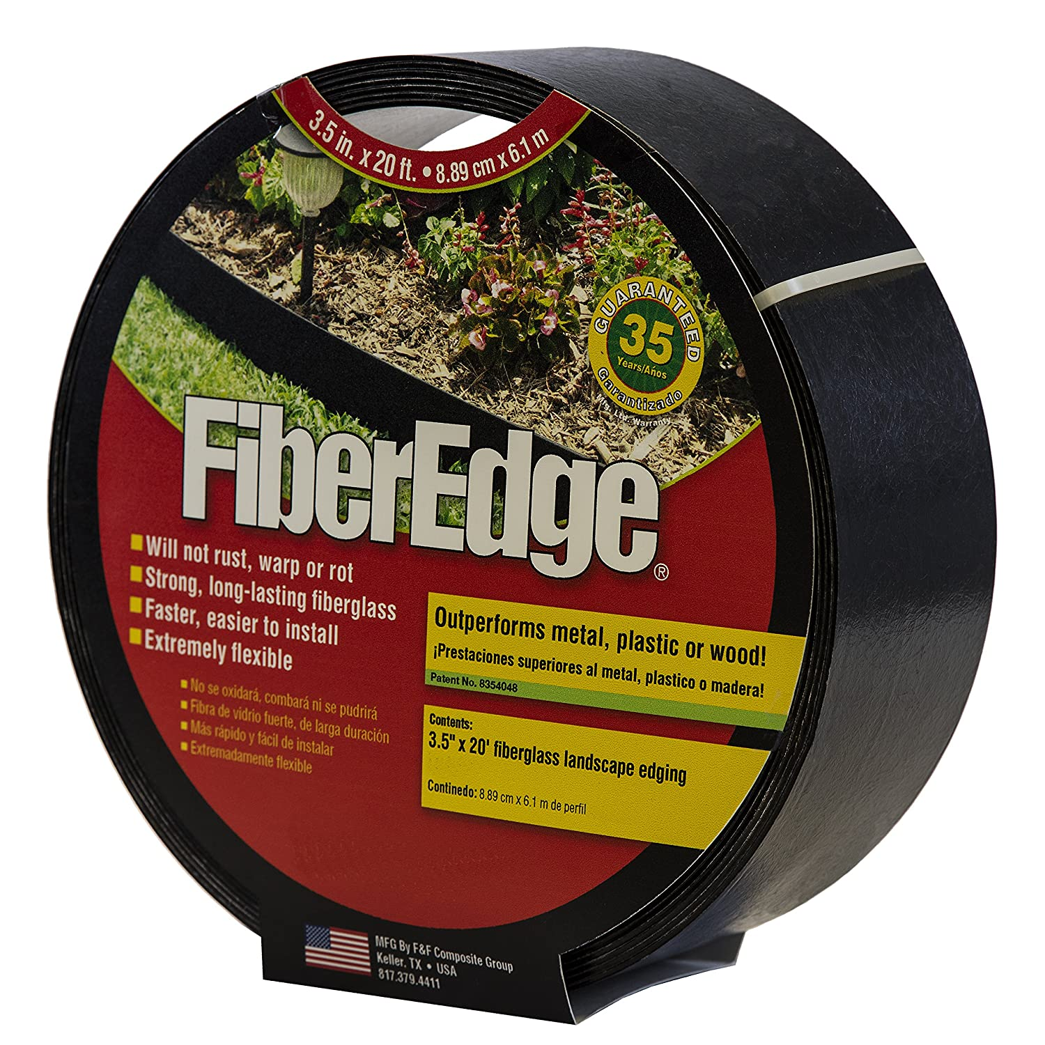 "FiberEdge 3.5"" x 20 ft Fiberglass Landscape Edging"