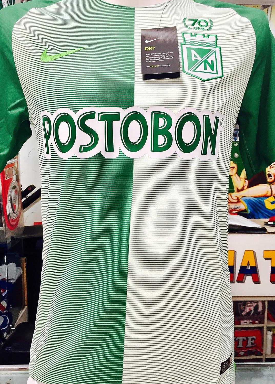 Desconocido Atletico Nacional de Medellin Copa Libertadores Soy del Verde y Soy Feliz Colombiano Jersey Camiseta T Camisa tamaño pequeño Solo: Amazon.es: Deportes y aire libre