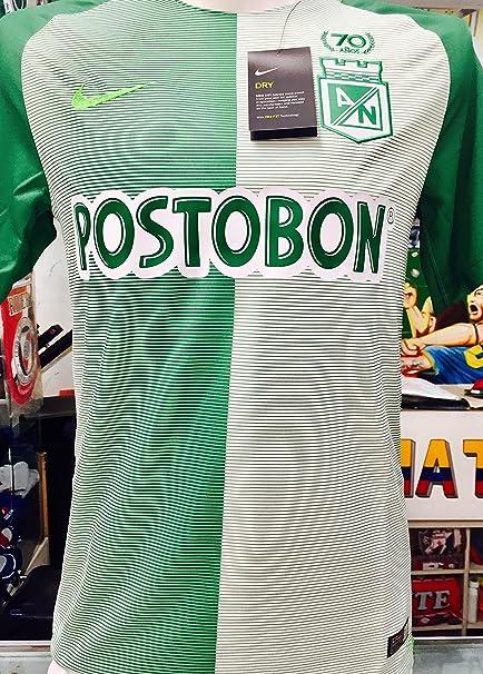 82fc8d693ff93 Amazon.com   Atletico Nacional DE Medellin COPA LIBERTADORES Soy DEL Verde  Y Soy Feliz Colombian Jersey Camiseta T Shirt Size Small ONLY   Sports    Outdoors