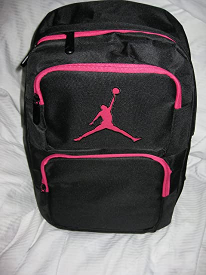Image Unavailable. Image not available for. Color  Nike Air Jordan Pink  Black School Backpack Laptop Sleeve Backpack with Insulated Front Pocket ... eee85aab6746b