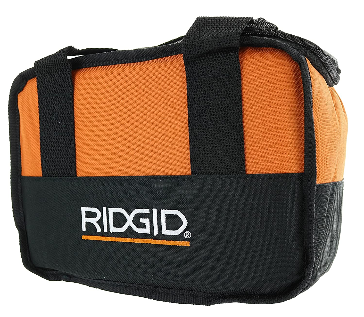 Ridgid Genuine OEM Soft-Sided Heavy Duty Cross X-Stitched Contractor's Tool Bag for 12V Tools (10 Inches x 7 Inches x 5 Inches)