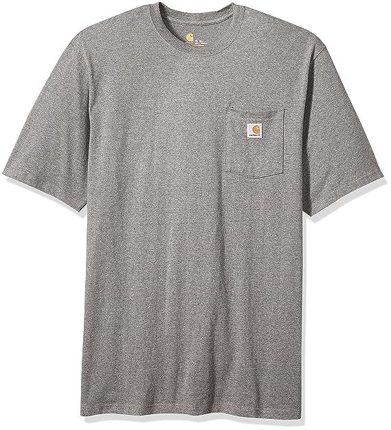 22f3f8d922 Carhartt Men's Workwear Pocket Short Sleeve T-Shirt, granite heather Small