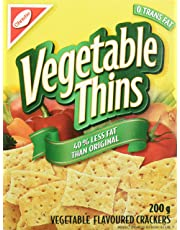 Christie Vegetable Thins 40% Less Fat Crackers, 200 Grams