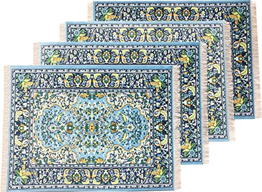 """Turkish Woven Miniature Dollhouse Carpets//Rugs-Lot of 1 Assorted ~9/"""" x 6/"""""""