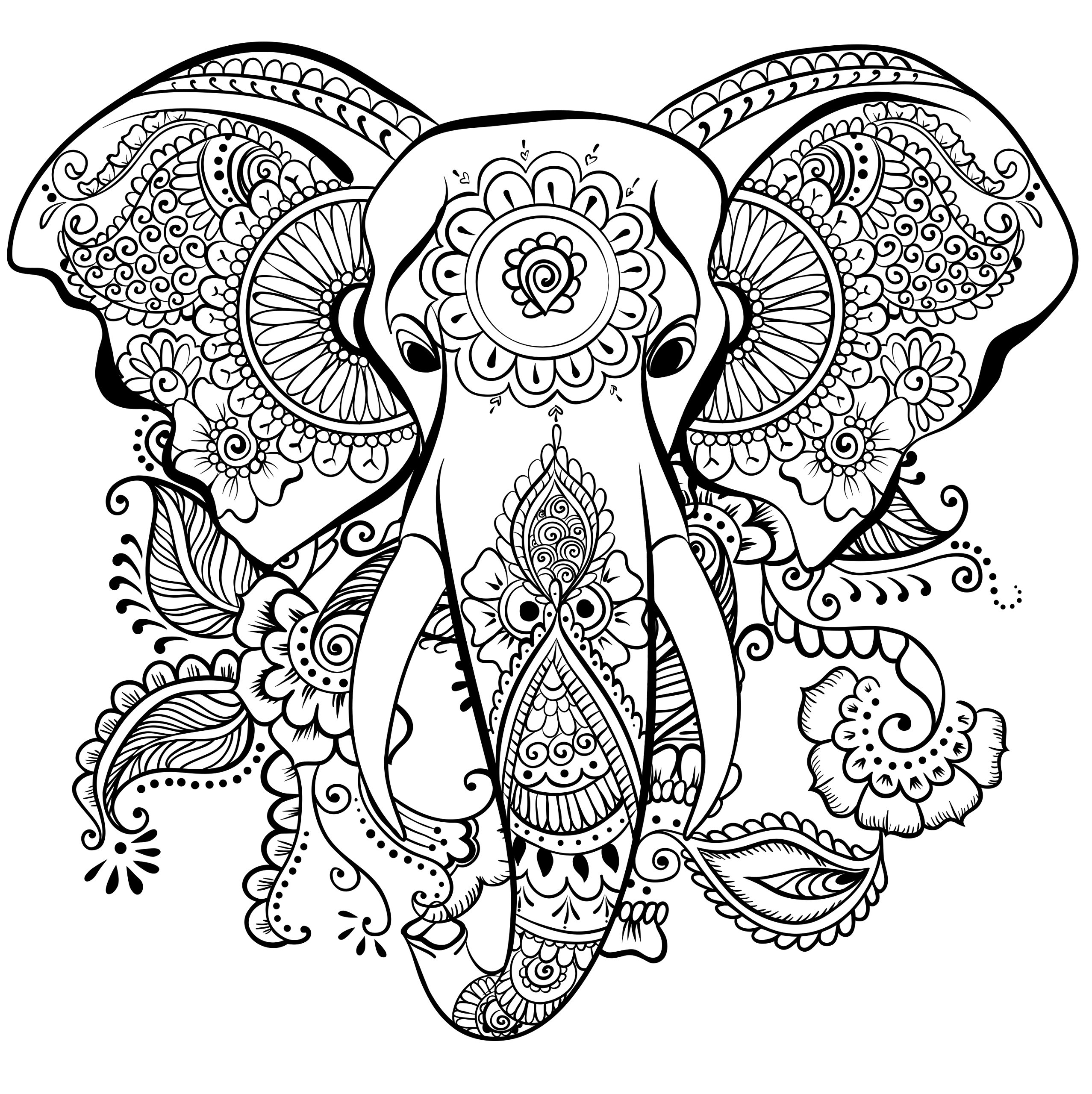 Wild Kingdom Adult Coloring Book 31 Stress-Relieving Designs ...