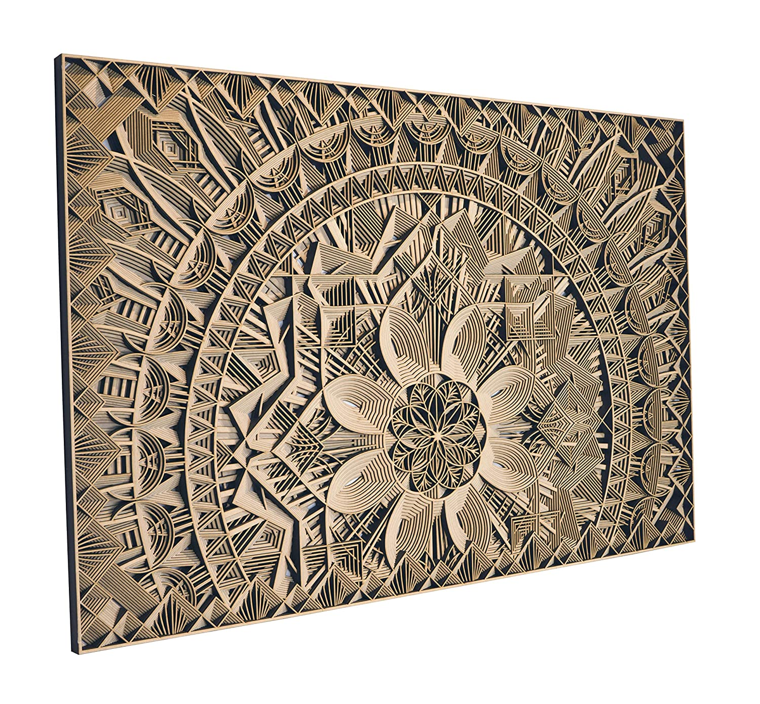 Amazon Com Stereowood Blossom Multi Layer Wooden Wall Art