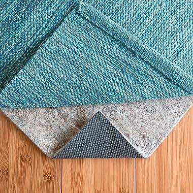 RUGPADUSA EXTH-FR-710 Basics Non Slip Felt & Rubber Rug Pad Add Grip, Cushion, Protection, Safe for Hardwood and Hard Surface Floors, 7' x 10', Black