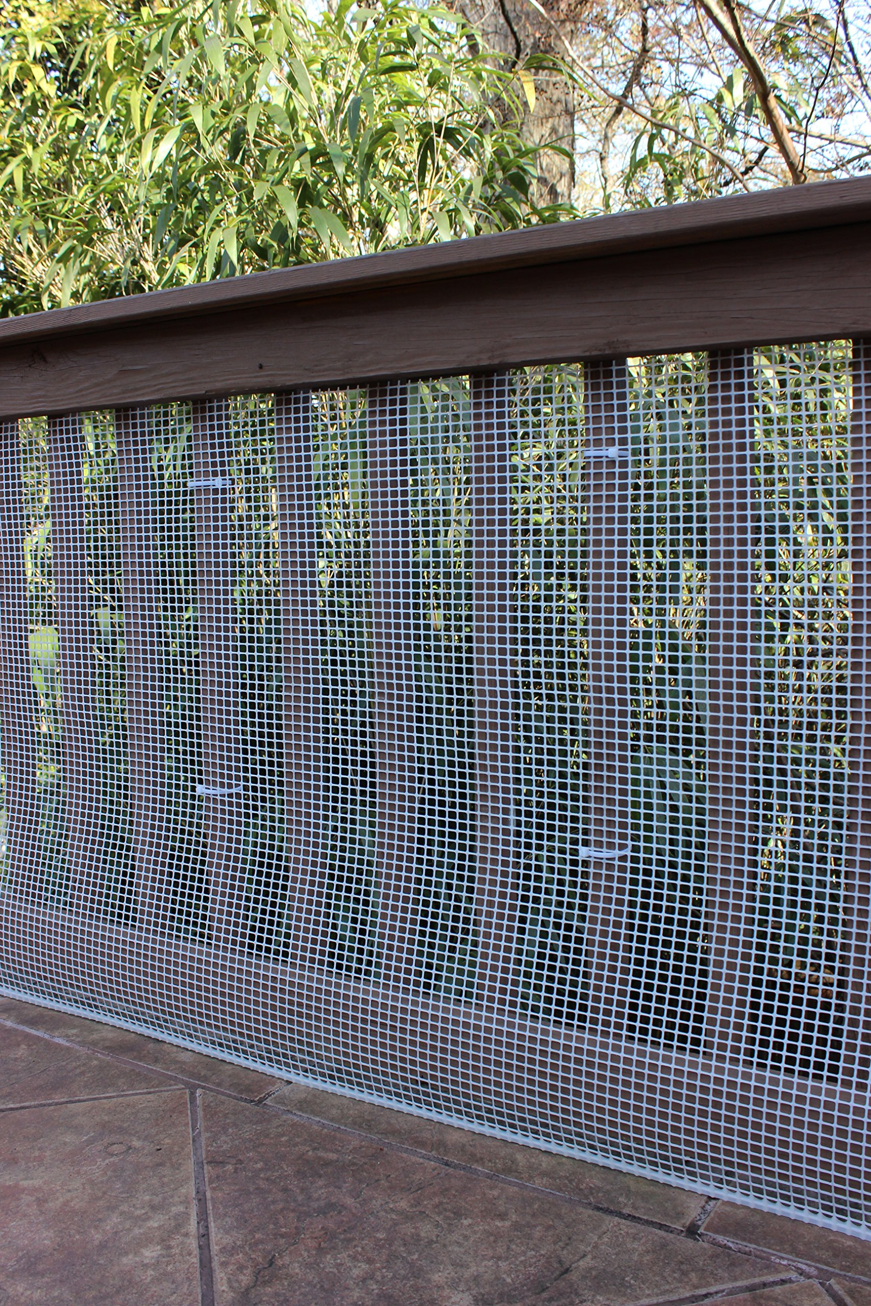 Cardinal Gates Heavy-Duty Outdoor Deck Netting, Translucent white ,  15' by Cardinal Gates (Image #2)