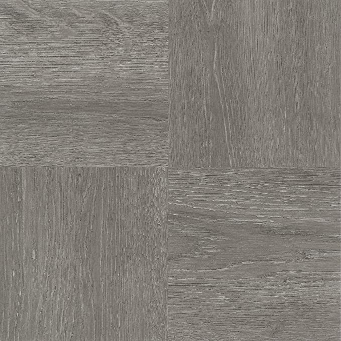 Covers 18 sq Glue Installation ft 2mm Thick Pack of 12 Luxury Vinyl Tile Flooring Grey 6 x 36