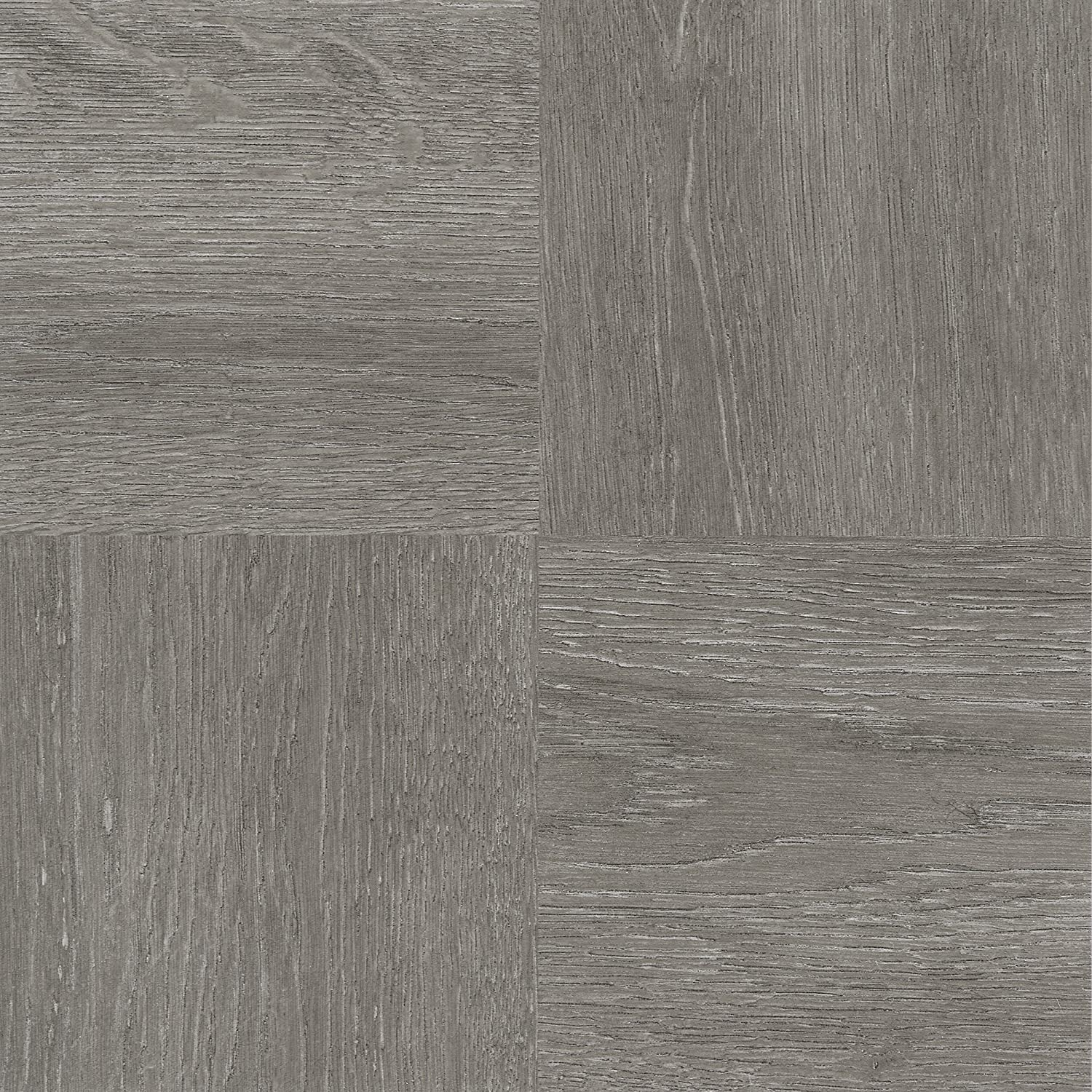 "Achim Home Furnishings FTVWD22920 Nexus Self Adhesive 20 Vinyl Floor Tiles, 12"" x 12"", Charcoal Grey Wood, Piece"