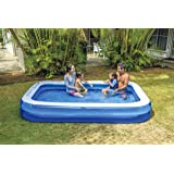 "Giant Inflatable Kiddie Pool - Family and Kids Inflatable Rectangular Pool - 10 Feet Long (120"" X 72"" X 20"")"