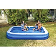 """Giant Inflatable Kiddie Pool - Family and Kids Inflatable Rectangular Pool - 10 Feet Long (120"""" X 72"""" X 20"""")"""
