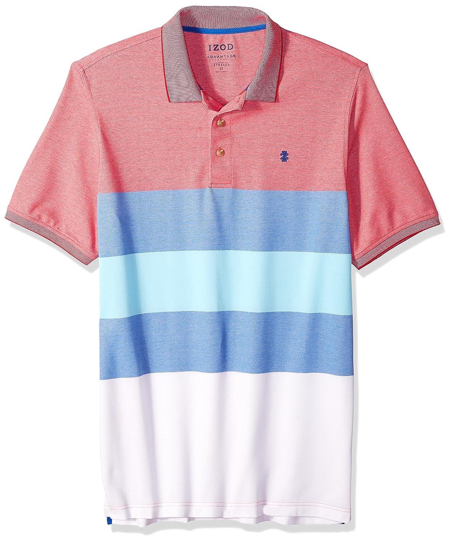 c05773c3fe Amazon.com  IZOD Men s Big and Tall Short Sleeve Advantage Stripe Polo   Clothing