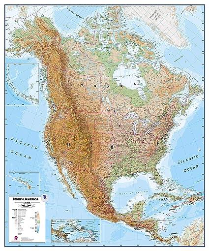 Amazon.com : Maps International Huge Physical North America ...
