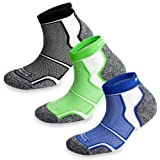 3 Pairs More Mile New York Cushioned Coolmax Sports Running Socks