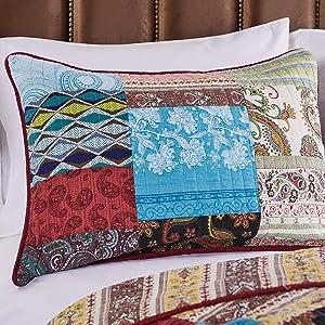 Greenland Home Bohemian Dream Pillow Sham, Standard, Multicolored