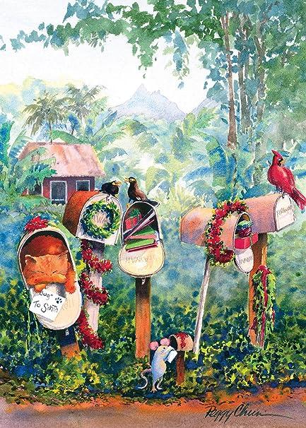 hawaiian christmas cards 12 to santa by peggy chun greetings of aloha - Hawaiian Christmas Cards