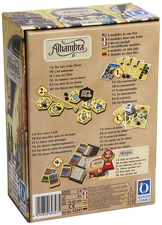 Amazon.com: Alhambra The Power of Sultan Expansion #5: Toys ...
