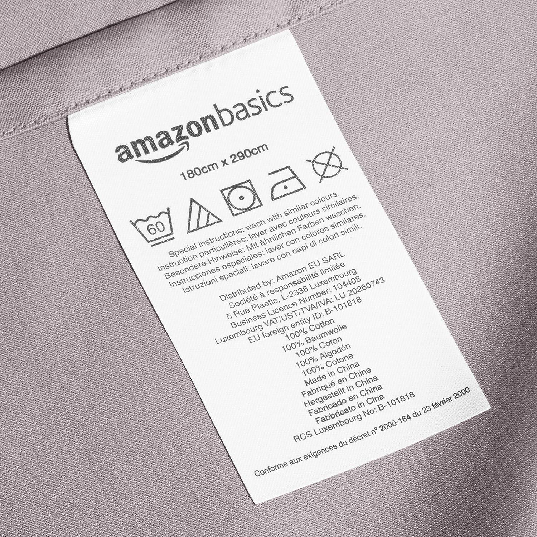 AmazonBasics - Sábana encimera (algodón satén 400 hilos ...