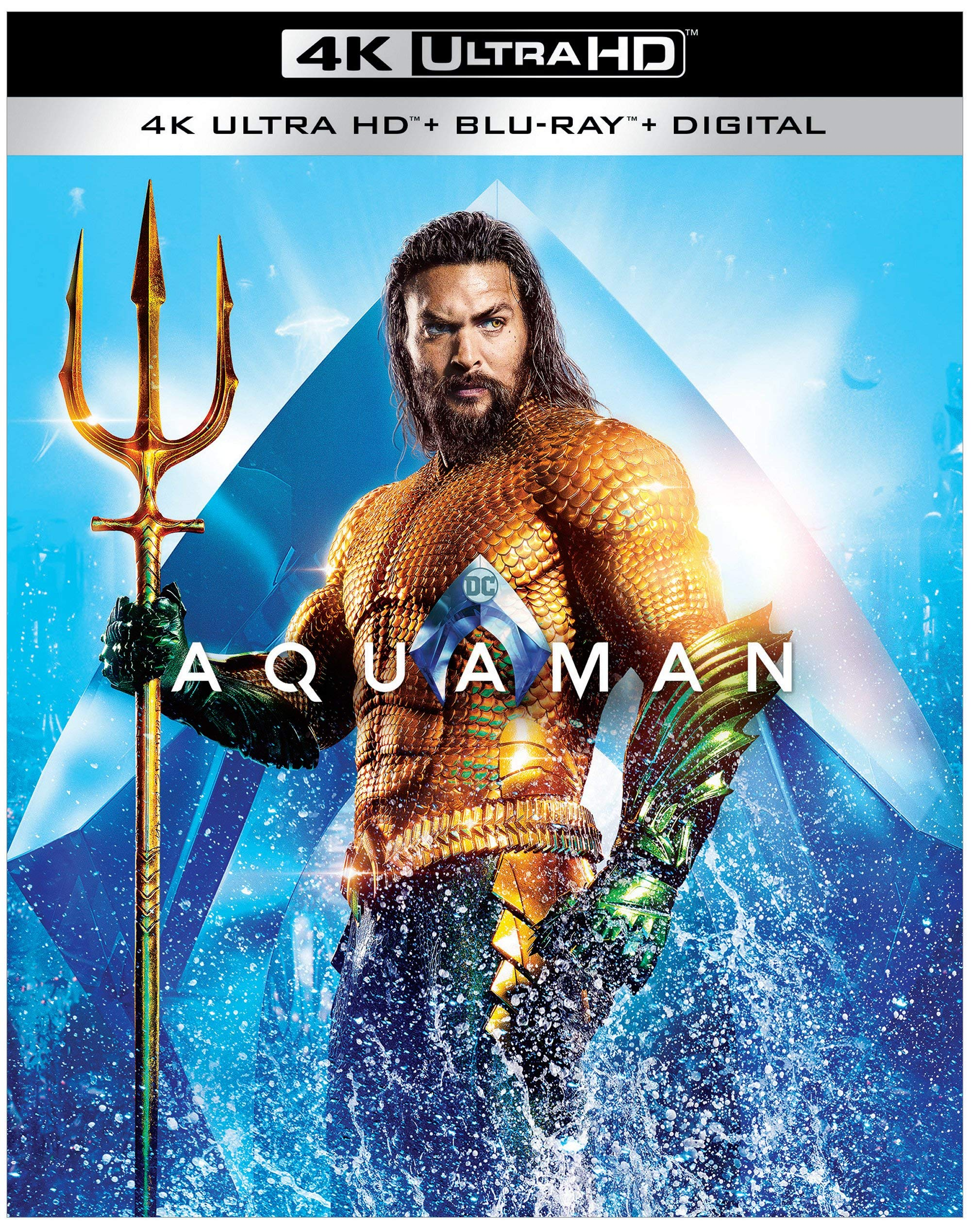 4K Blu-ray : Aquaman (With Blu-ray, Black, 4K Mastering, Digital Copy)
