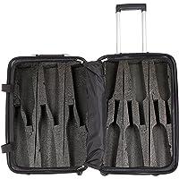 VinGardeValise - Up to 12 Bottles & All Purpose Wine Travel Suitcase (Black)