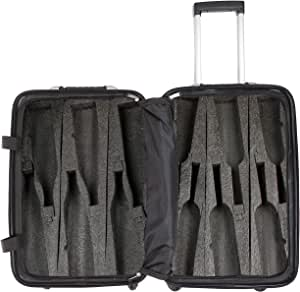 VinGardeValise - Up to 12 Bottles & All Purpose Wine Travel Suitcase (Black)
