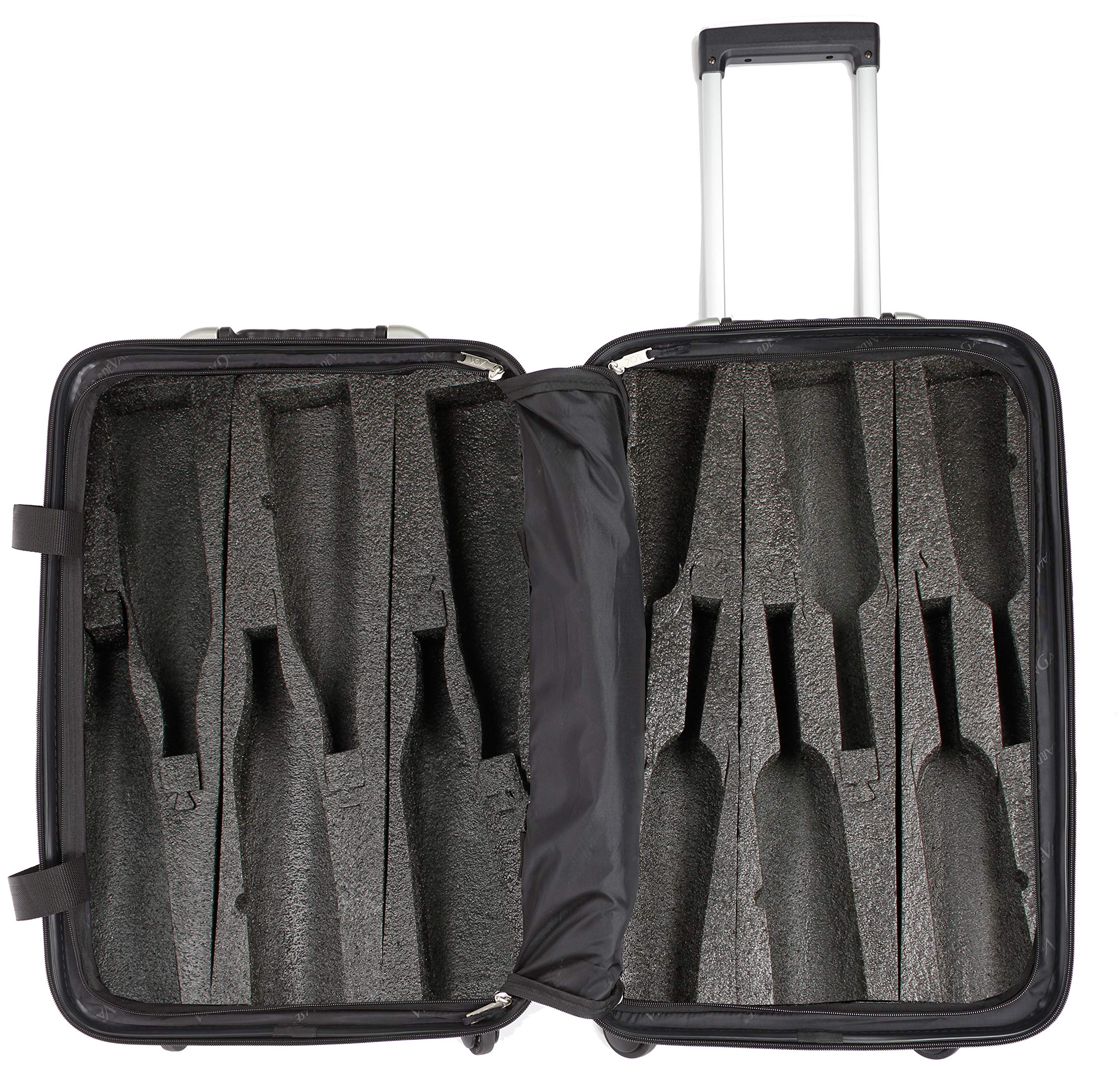 VinGardeValise - Up to 12 Bottles & All Purpose Wine Travel Suitcase (Black) by VinGardeValise (Image #1)