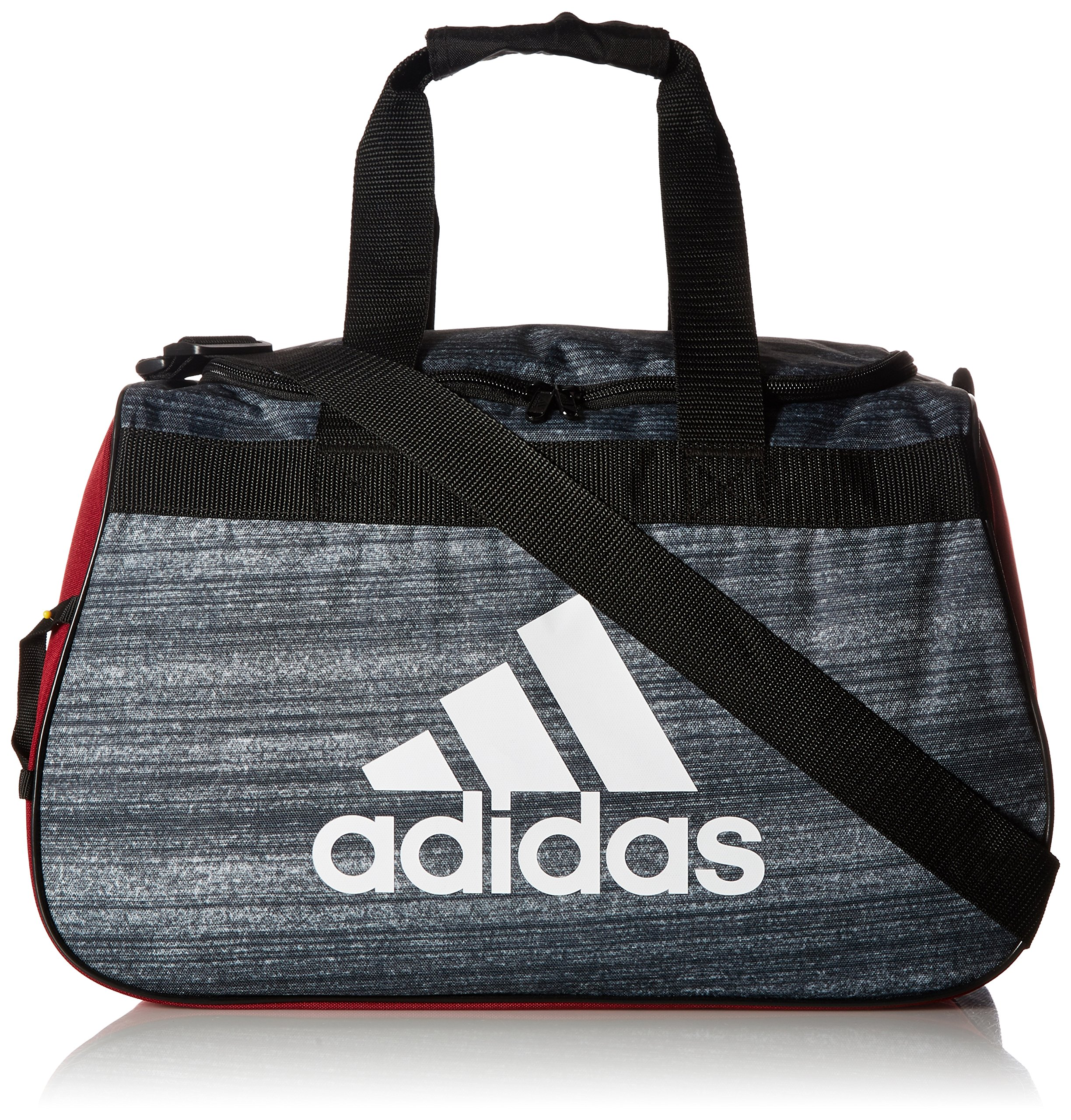 adidas Diablo Small Duffel Bag, Noise Black/Collegiate Burgundy/Black/White, One Size