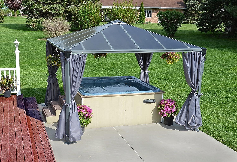 Palram Palermo Garden Gazebo For Robust Structure Year Round Use Grey 3600 Amazoncouk Outdoors