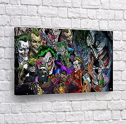 Batman The Killing Joke - Different kind of Joker in One Comics Old School CANVAS PRINT Wall Art Decorative Home Decor Poster Artwork Framed ...