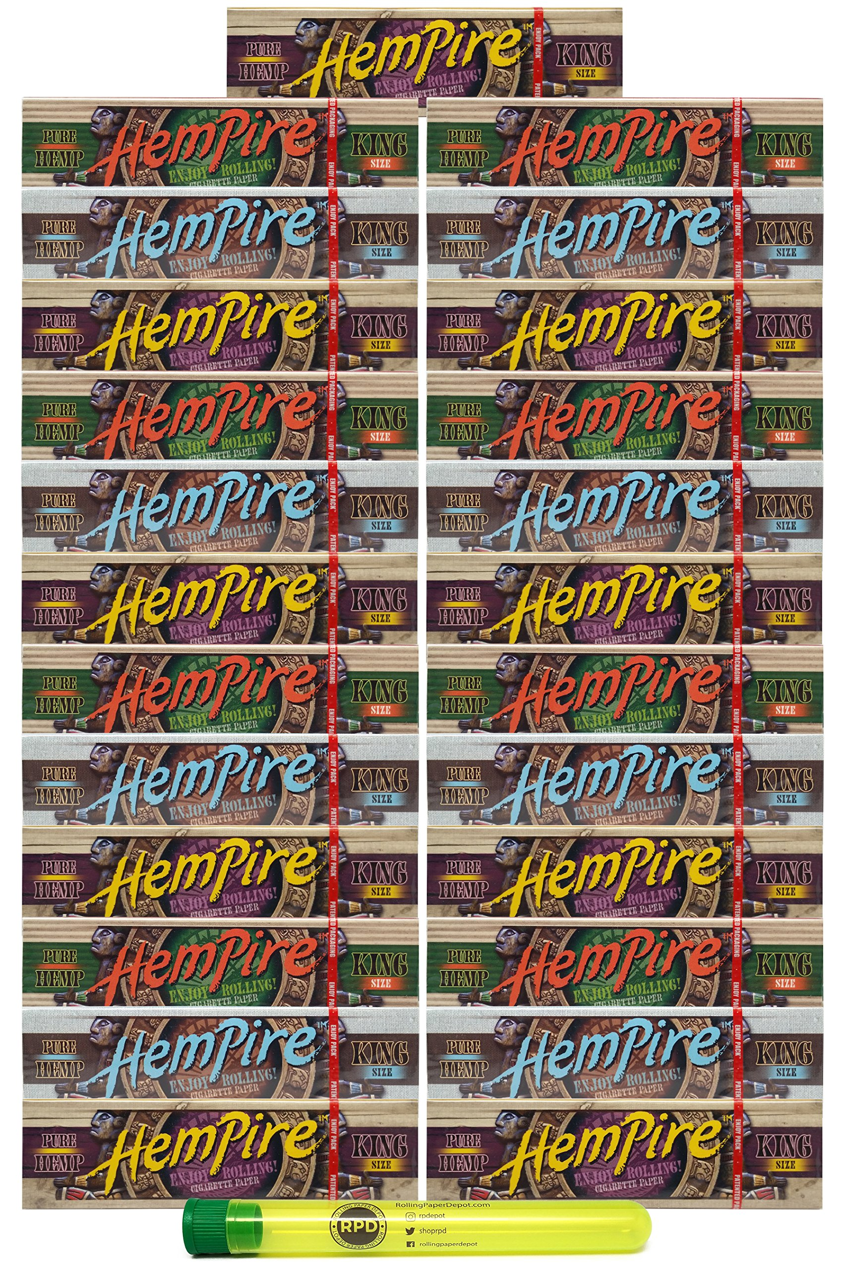 Hempire King Size Rolling Papers (25 Packs) with Rolling Paper Depot KewlTube by Hempire, Rolling Paper Depot