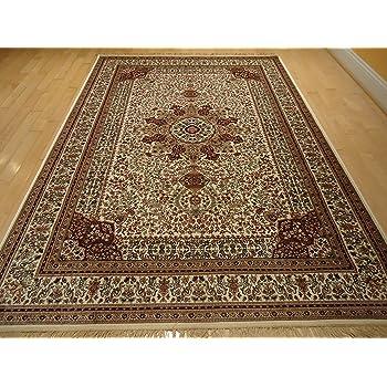 Amazon Com Silk Ivory Rugs Persian Tabriz Rug 7x10 Living