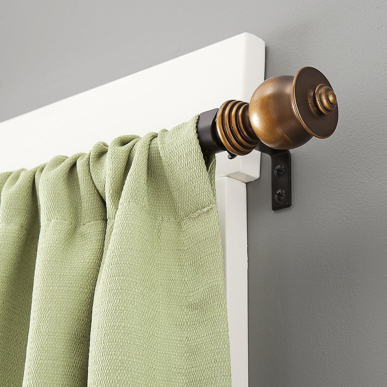 Kenney Parker 5/8 Standard Decorative Window Curtain Rod, 28-48, Oil Rubbed Bronze 28-48 75867